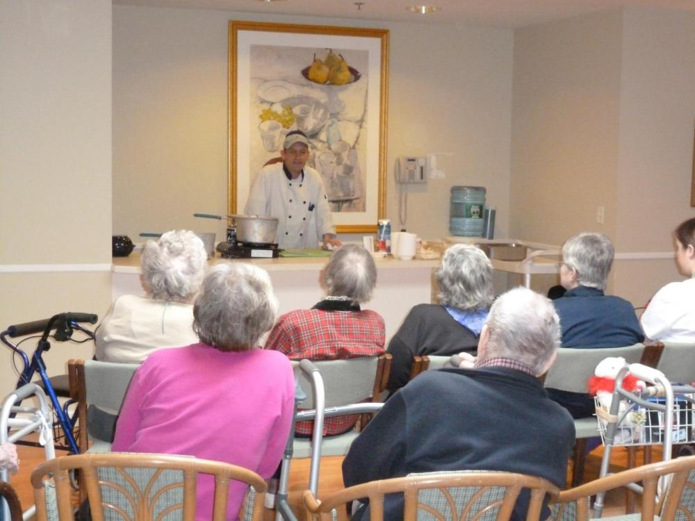 Chef Rick Kendall at RiverCourt Residences in Groton MA