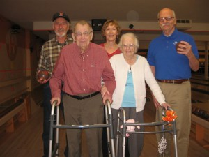 Residents enjoy their monthly bowling trip!