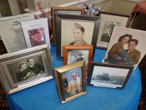 A sampling of the photos on display for the celebration honoring our residents and their service